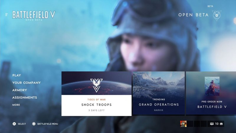 Battlefield V Menu Nerd Reactor