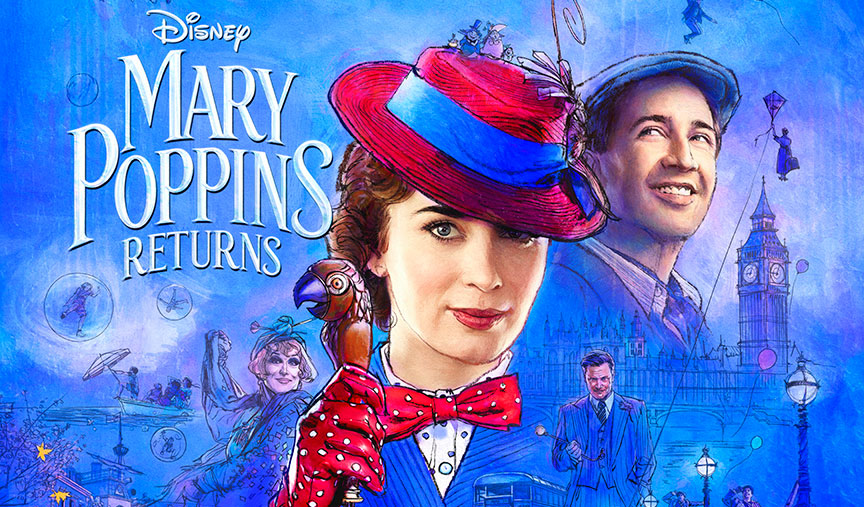 Mary Poppins is back, and this time Emily Blunt will be portraying the  flying British nanny in the upcoming live-action musical, Mary Poppins  Returns.