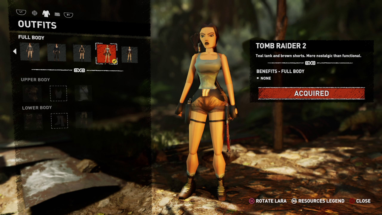 Shadow of the Tomb Raider classic Lara Croft