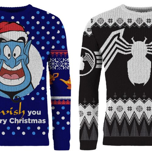 Get ready for the holidays with Venom and Genie ugly sweaters
