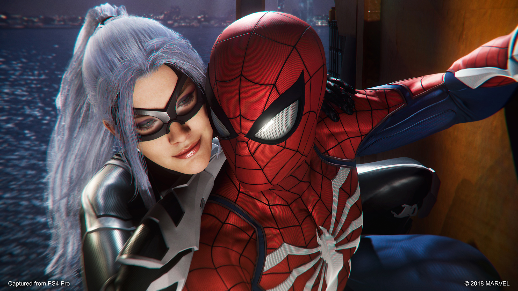 Marvel's Spider-Man: The Heist black cat andSpidey