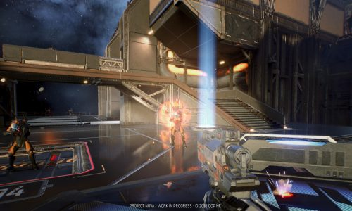 Blasting aliens with the EVE Online shooter, Project Nova