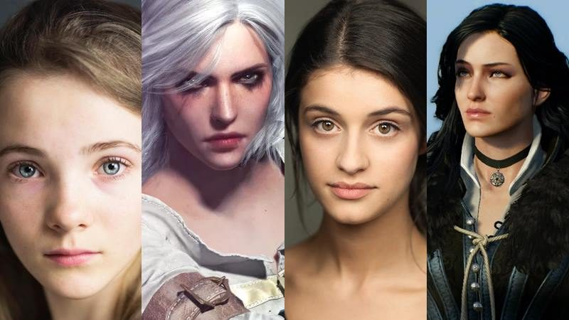 the witcher Freya Allen is Ciri, Anya Chalotra is Yennefer Netflix's The Witcher