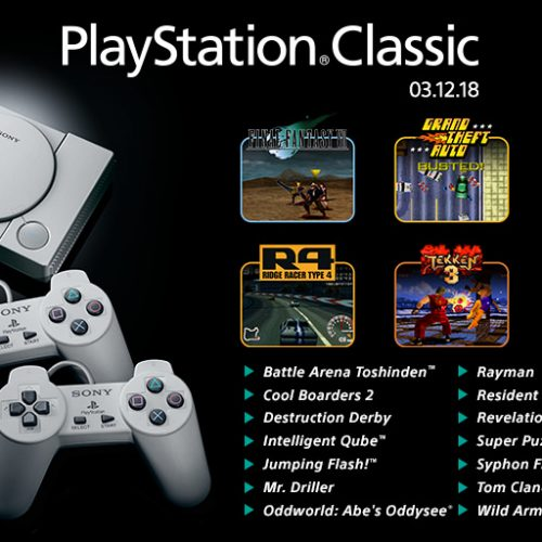 PlayStation Classic games announced