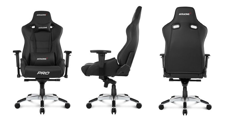 akracing pro gaming chair front side back