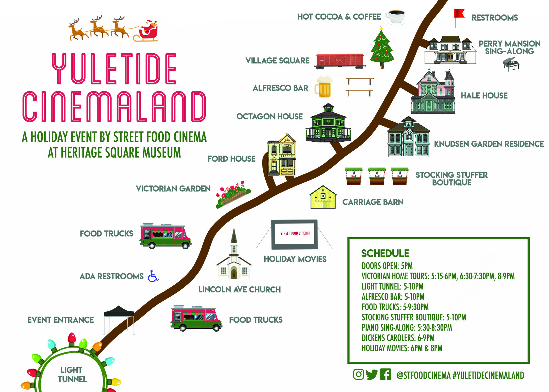 Street Food Ciname Yuletide Cinemaland map
