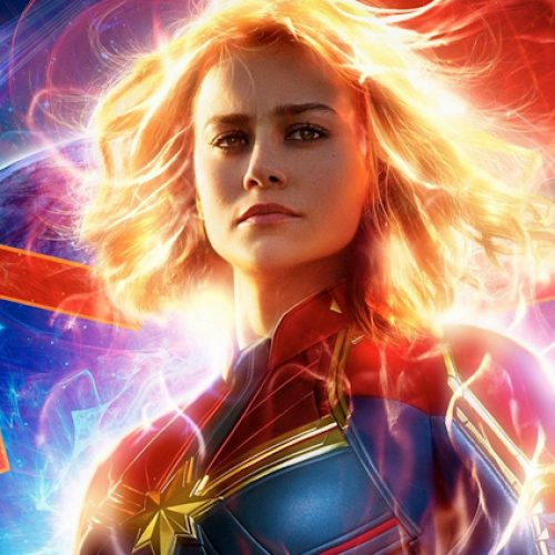 Captain Marvel appears with other heroes in Avengers: Endgame blanket