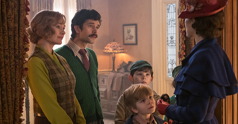 Mary Poppins Returns - Emily Mortimer, Ben Whishaw, and Emily Blunt