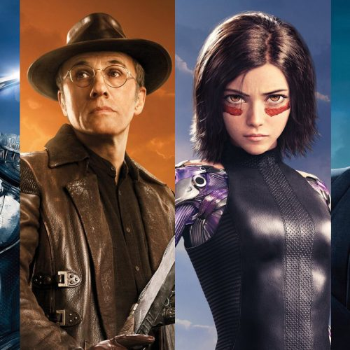 See the different cyborgs with Alita: Battle Angel character posters