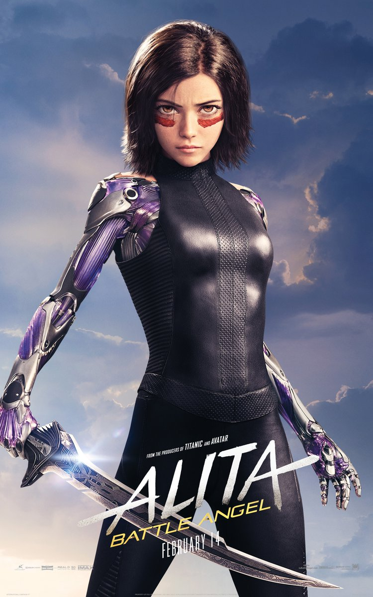 Alita Battle Angel Character poster