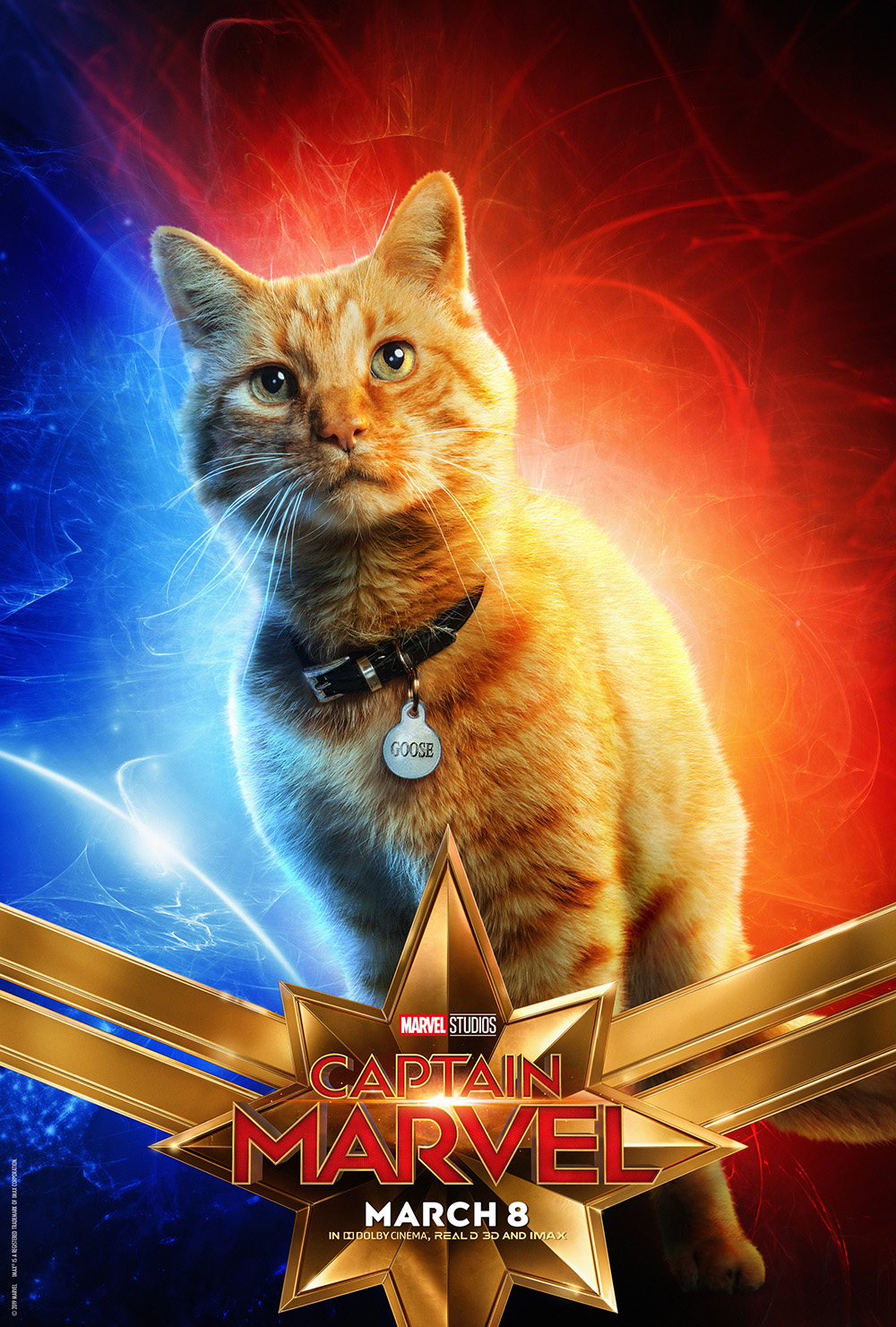 Captain Marvel Character Posters Released Including Goose