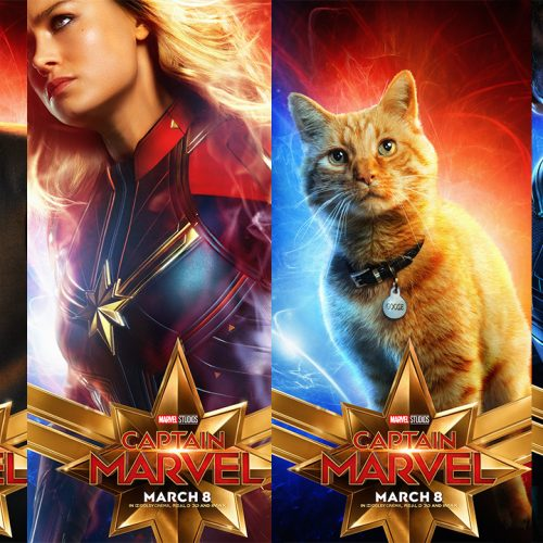 Captain Marvel character posters released including Goose the Cat