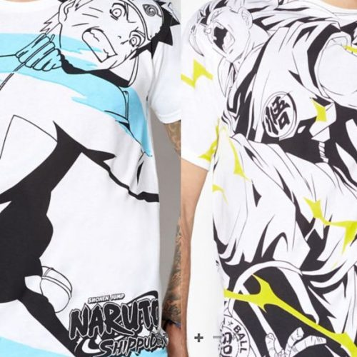 Dragon Ball Z/Super and Naruto shirts available at Spencer's