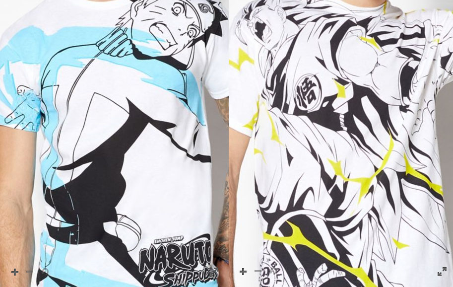 dragon ball naruto spence's shirts