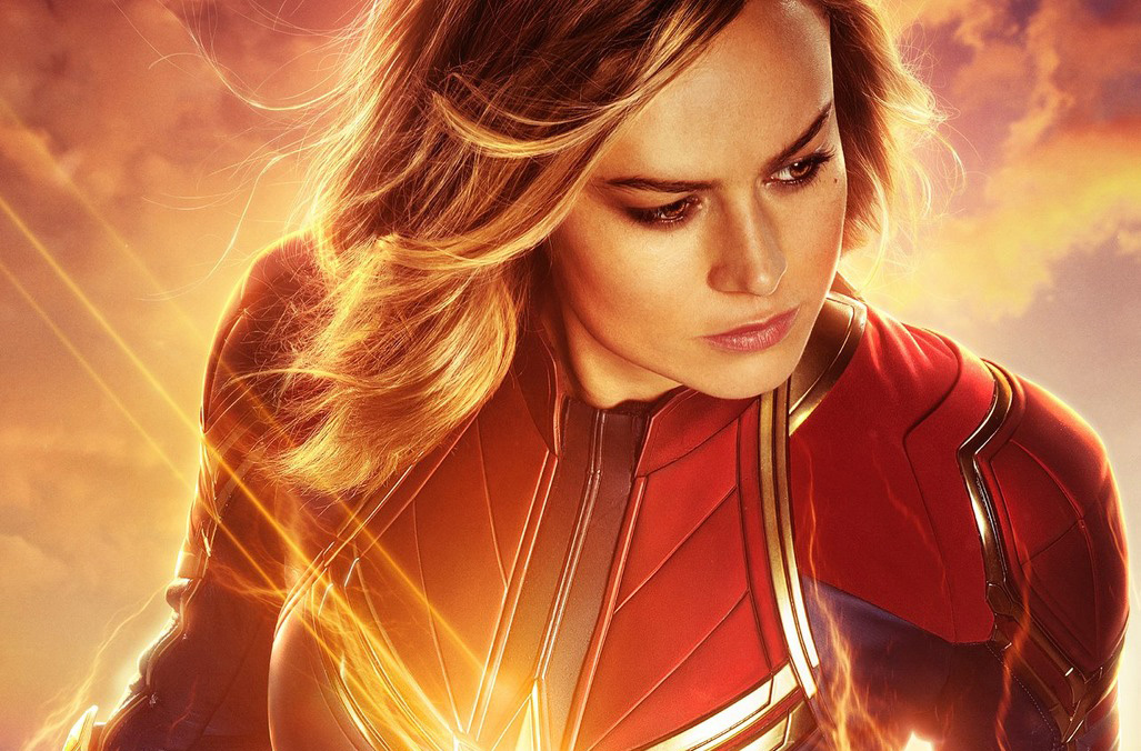 Captain Marvel poster Brie Larson
