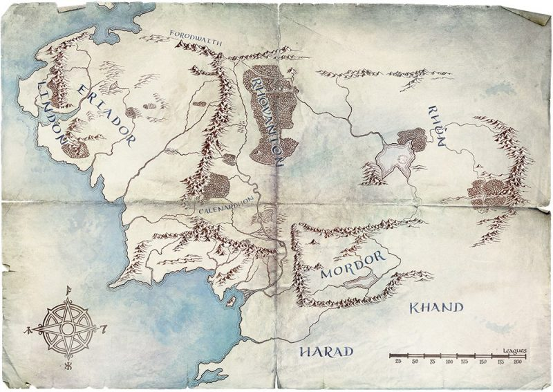 Lord of the Rings Amazon series middle-earch map