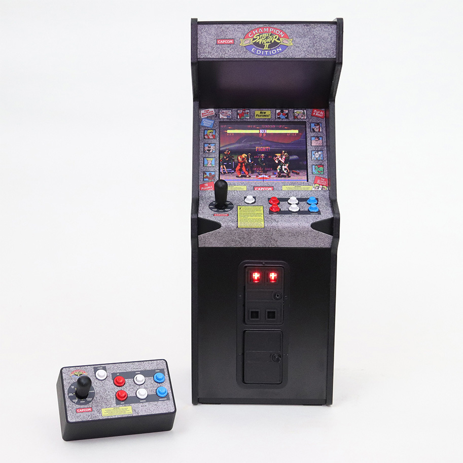 Street Fighter Ii Miniature Arcade Cabinet Coming In July Nerd