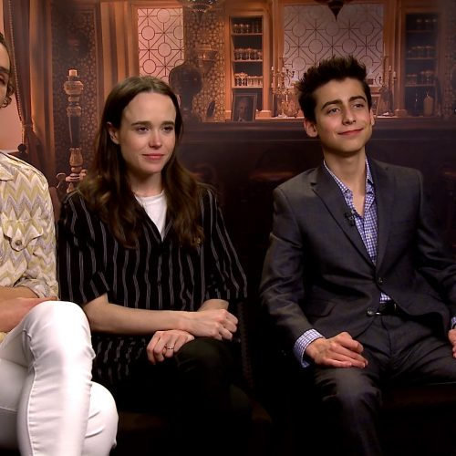 The Umbrella Academy's Robert Sheehan and Ellen Page on sleeping on grave and violin lesson