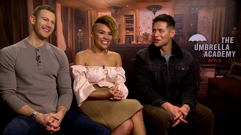 The Umbrella Academy Tom Hopper, Emmy Raver-Lampman, David Castaneda
