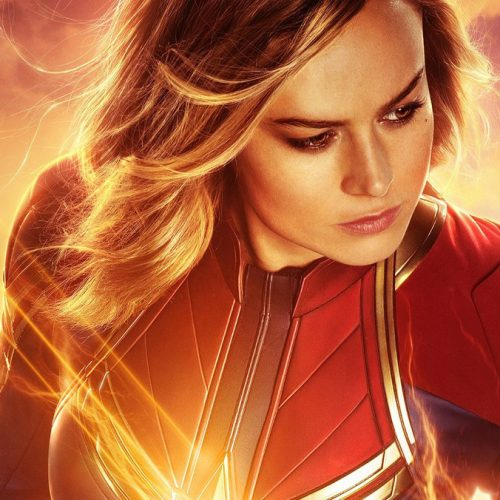 Captain Marvel is front and center of Iron Man and Captain America in Avengers: Endgame promo art