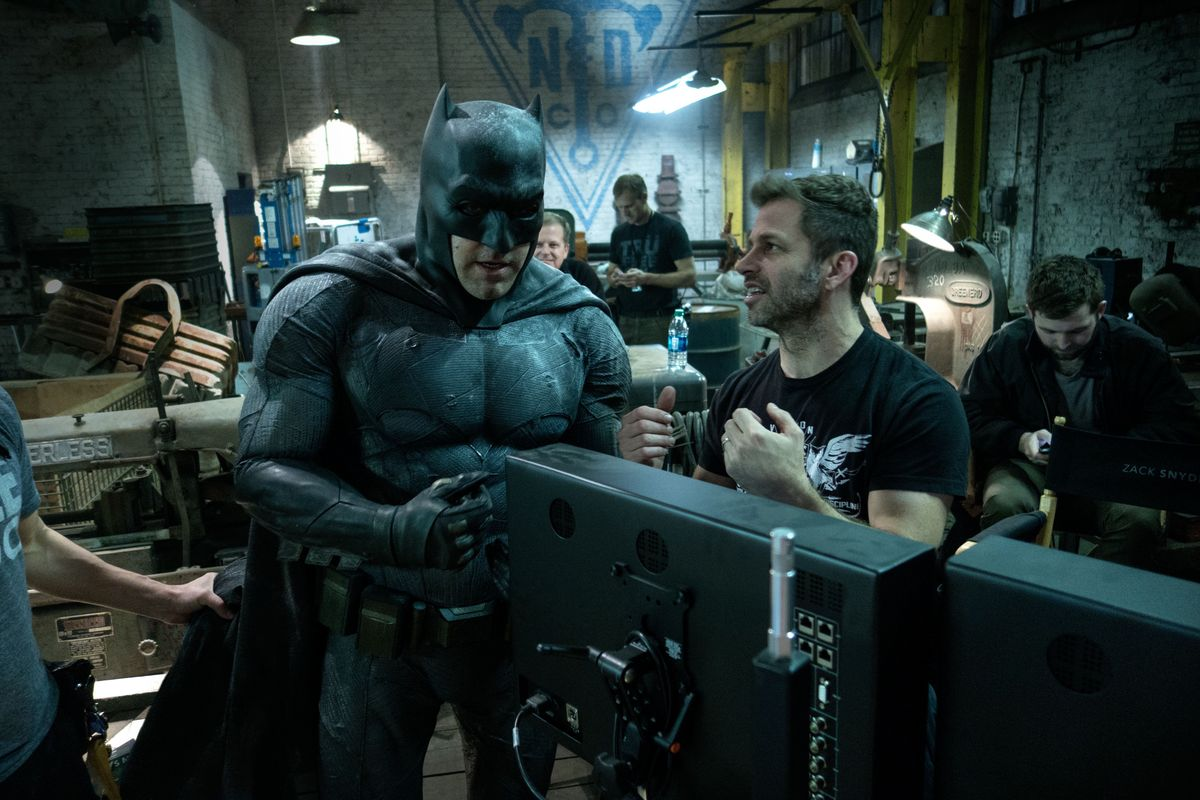 Zack Snyder on Batman v Superman set Warner Bros.