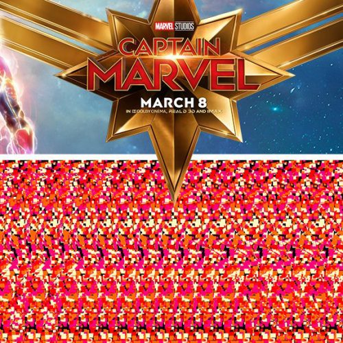 Captain Marvel brings back '90s craze with Magic Eye posters