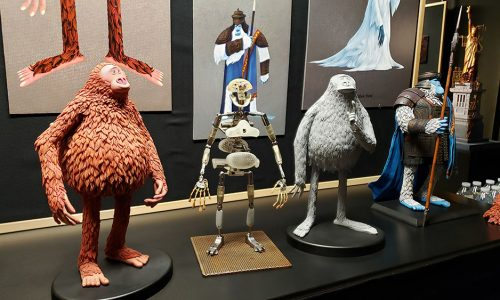 On the set of Laika's stop-motion animated film, Missing Link