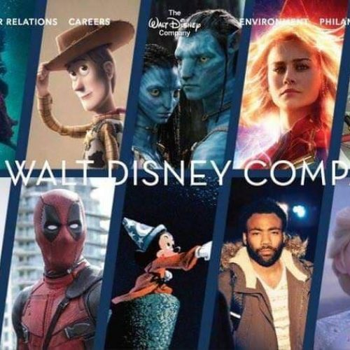 Disney's website banner now includes Fox's Avatar, Deadpool, Simpsons, Atlanta