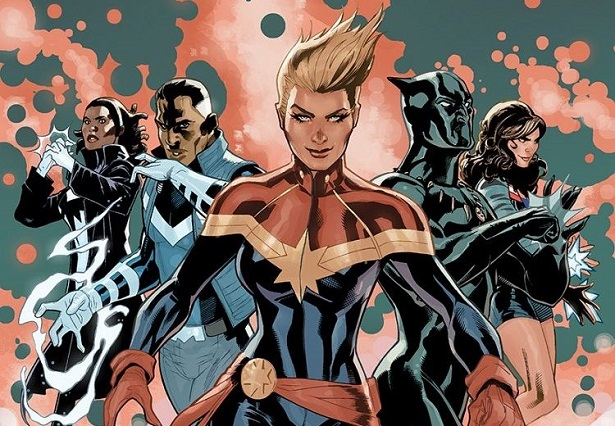 The Ultimates Dodson Captain Marvel Black Panther