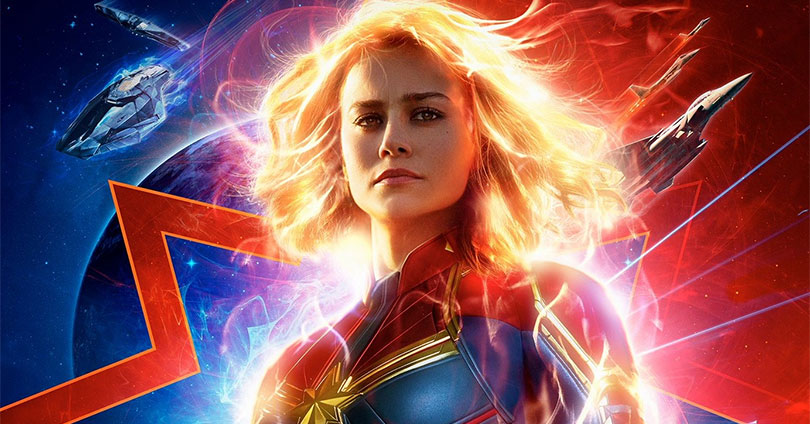 Captain Marvel Theatrical Poster Brie Larson