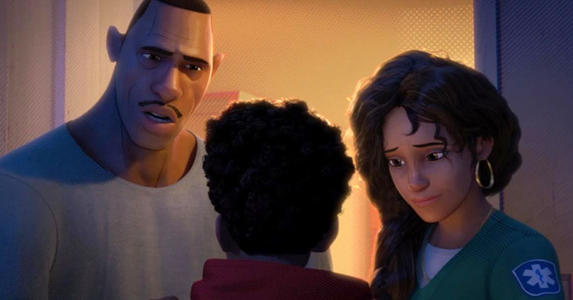 Spider-Man: Into the Spider-Verse - Jefferson Davis, Miles Morales, and Rio Morales