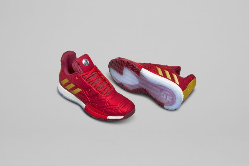 Adidas Basketball and Marvel shoes: Iron Man