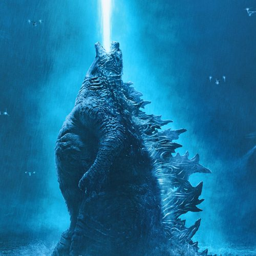 New Godzilla: King of the Monsters poster shows the kaiju firing up in the sky