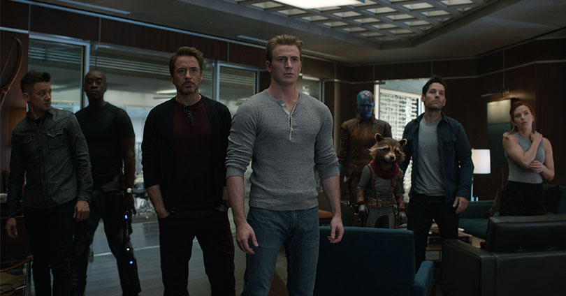 Avengers: Endgame - Jeremy Renner, Don Cheadle, Robert Downey Jr., Chris Evans, Bradley Cooper, Paul Rudd, and Scarlett Johansson