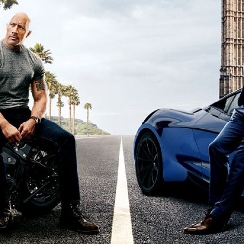 CinemaCon 2019: Dwayne Johnson and Jason Statham battle Idris Elba in Hobbs & Shaw clip (footage description)