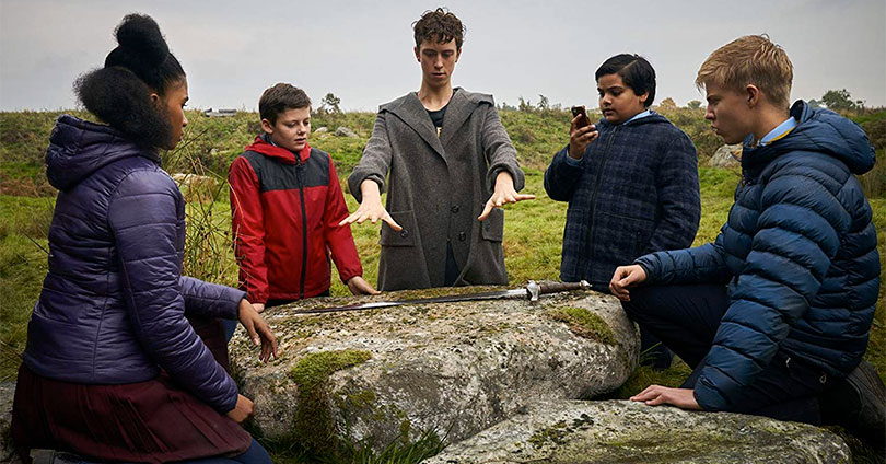 The Kid Who Would Be King - Angus Imrie, Louis Ashbourne Serkis, Tom Taylor, Rhianna Dorris, and Dean Chaumoo