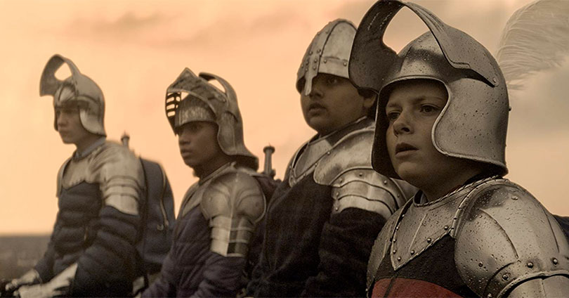 The Kid Who Would Be King - Louis Ashbourne Serkis, Tom Taylor, Rhianna Dorris, and Dean Chaumoo