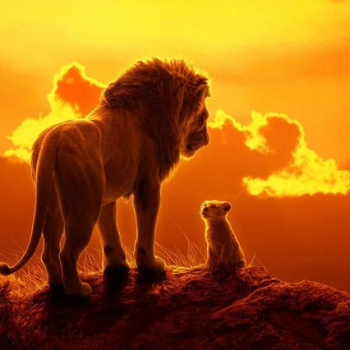 CinemaCon 2019: Mufasa teaches Simba the circle of life in Lion King clip (footage description)