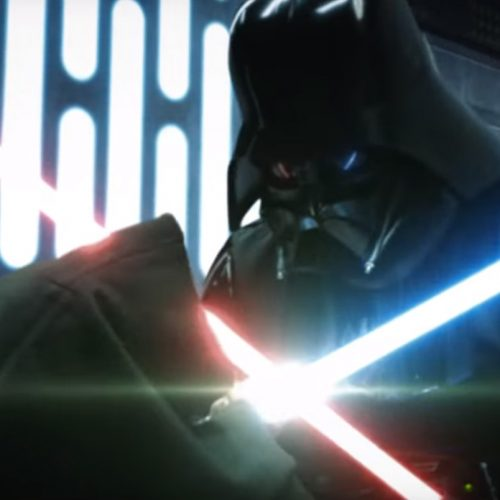 Star Wars' Darth Vader vs. Kenobi lightsaber battle is reimagined as more epic