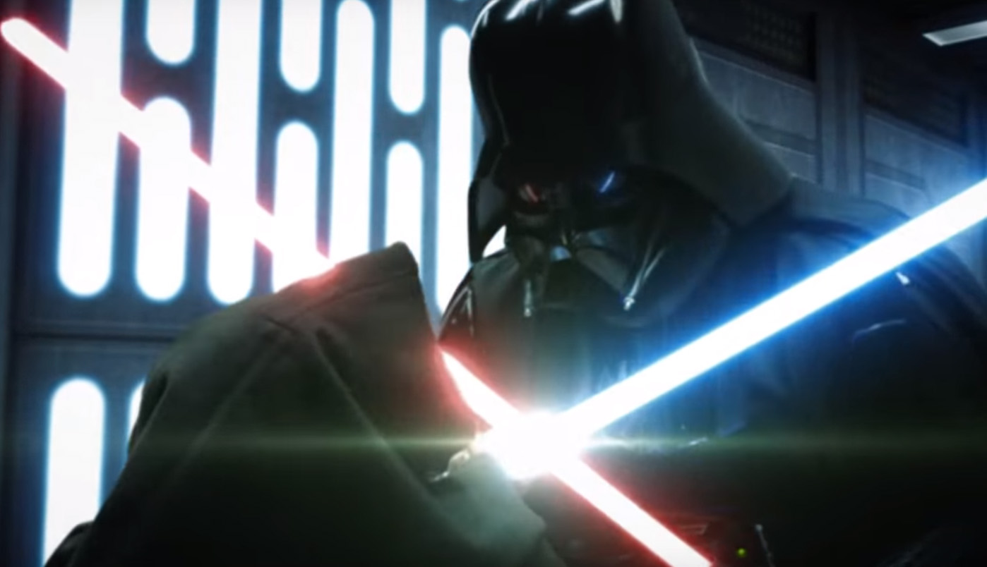Star Wars A New Hope Darth Vader vs Obi-Wan Kenobi lightsaber reimagined