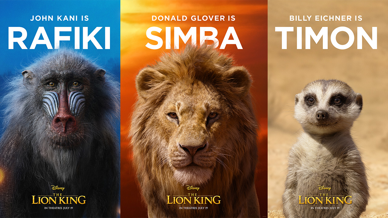 The Lion King character posters