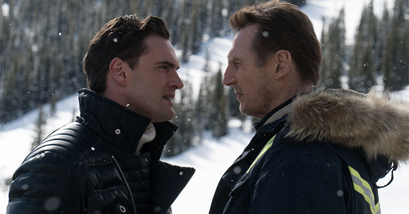 Cold Pursuit - Tom Bateman and Liam Neeson