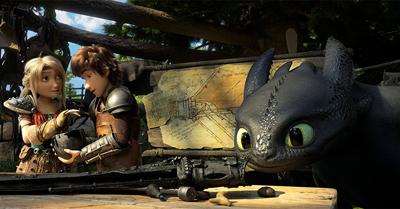 How to Train Your Dragon: The Hidden World - Astrid, Hiccup, and Toothless