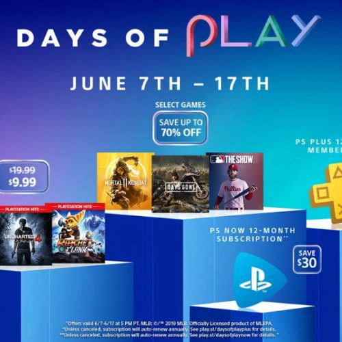 PS4's Days of Play discounts include Uncharted 4, Days Gone, Mortal Kombat 11, more