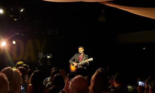 Yesterday star Himesh Patel performs Beatles songs at record release party
