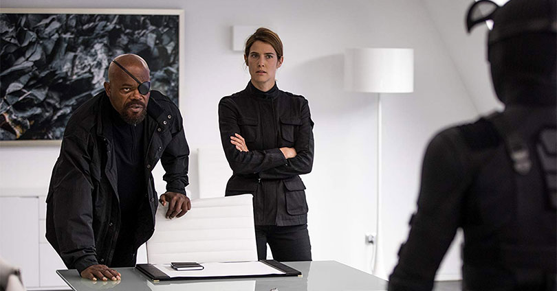 Spider-Man: Far From Home - Samuel L. Jackson and Cobie Smulders