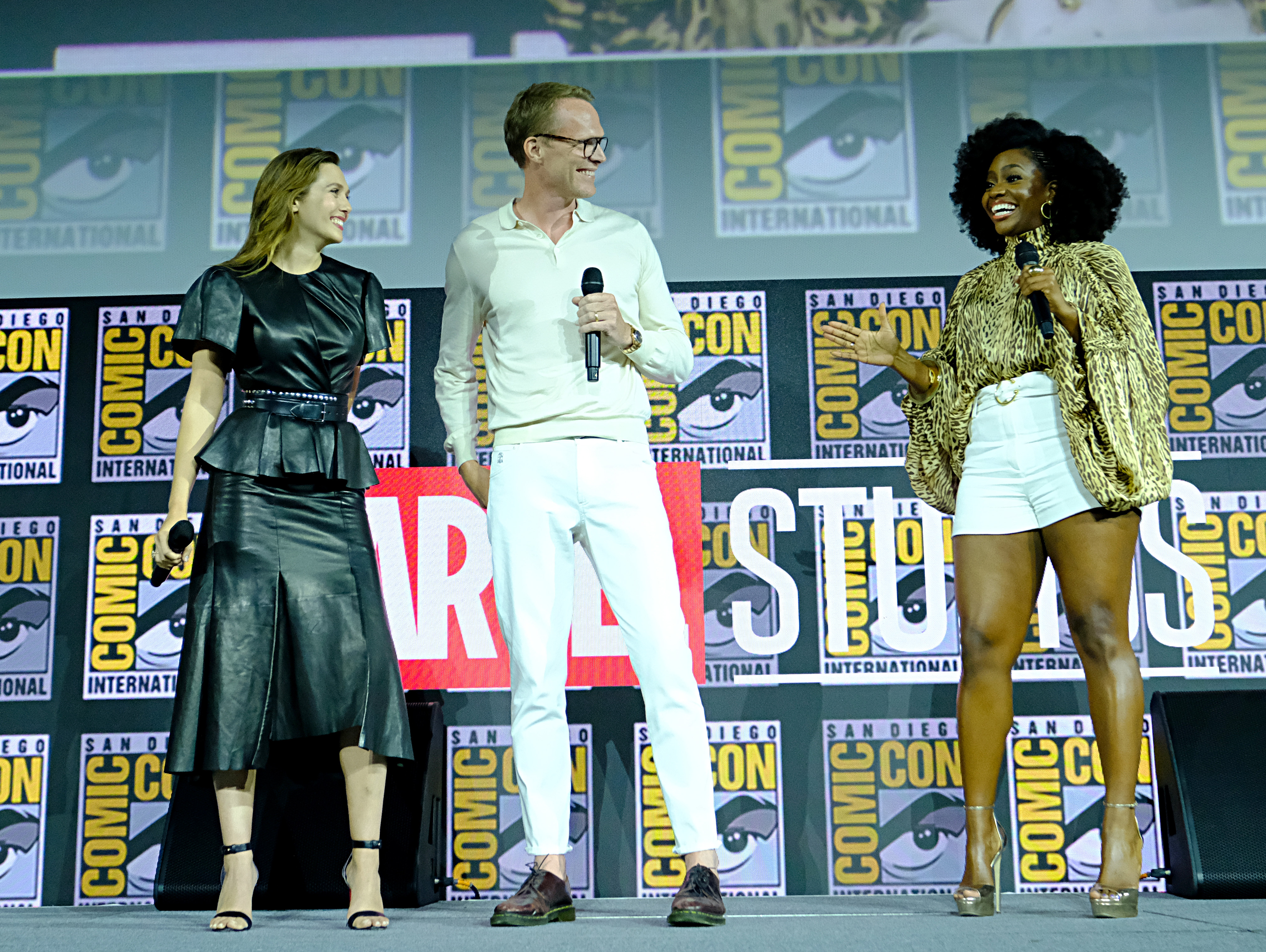 WandaVision - Elizabeth Olsen, Paul Bettany, and Teyonah Parris