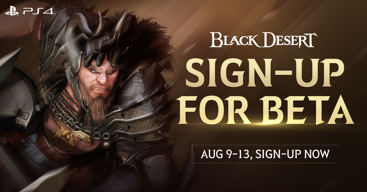 Black Desert beta sign up