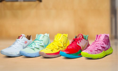 Get a closer look at Kyrie Irving x SpongeBob SquarePants collection
