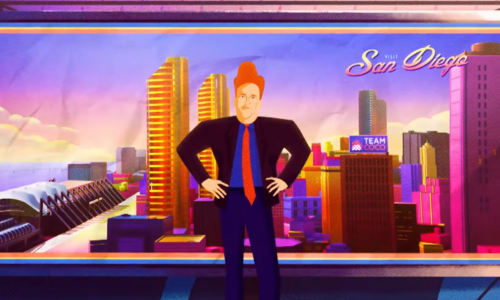 Conan pays homage to Into the Spider-Verse with his cold open